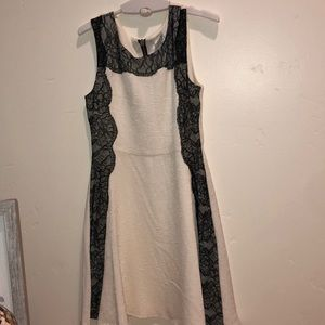Girls lace black and white dress